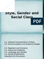 4. Style, Gender and Social Class