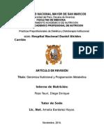 Genomica Nutricional y Programación Metabólica-FINALsin Modifica