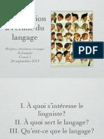 Cours de Linguistique de Niveau Licence