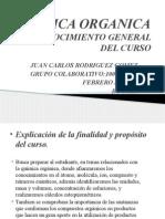 Reconocimiento General Del Curso. Quimica Organica