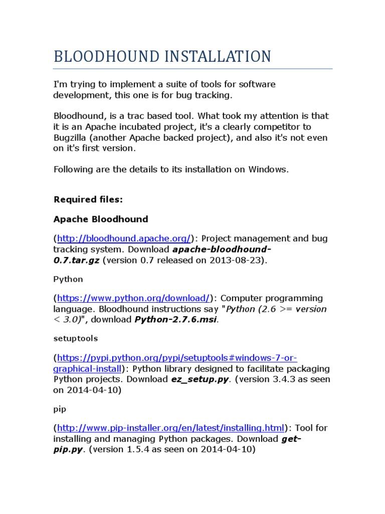 Bloodhound Installation   Postgre Sql   Installation (Computer Programs)
