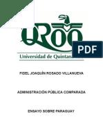 Admon Pública Comparada Trabajo Final Paraguay