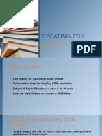 Creating Css