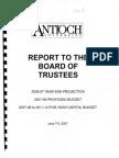 Budget June 07 project propose capital part 1