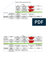 Horario Biologia 2015-1