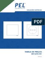 Efapel-Tabela Precos Mercado Nacional 2013-01-01
