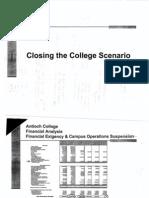 close college scenario financials