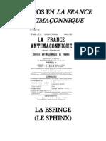 GUENON La Esfinge-Escritos en La France Antimaçonnique