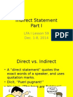 Lessons 5960 Indirect Statement 2014