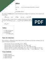Relación Matemática - Wikipedia, La Enciclopedia Libre