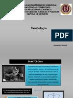 Tanatología MEDICINA LEGAL