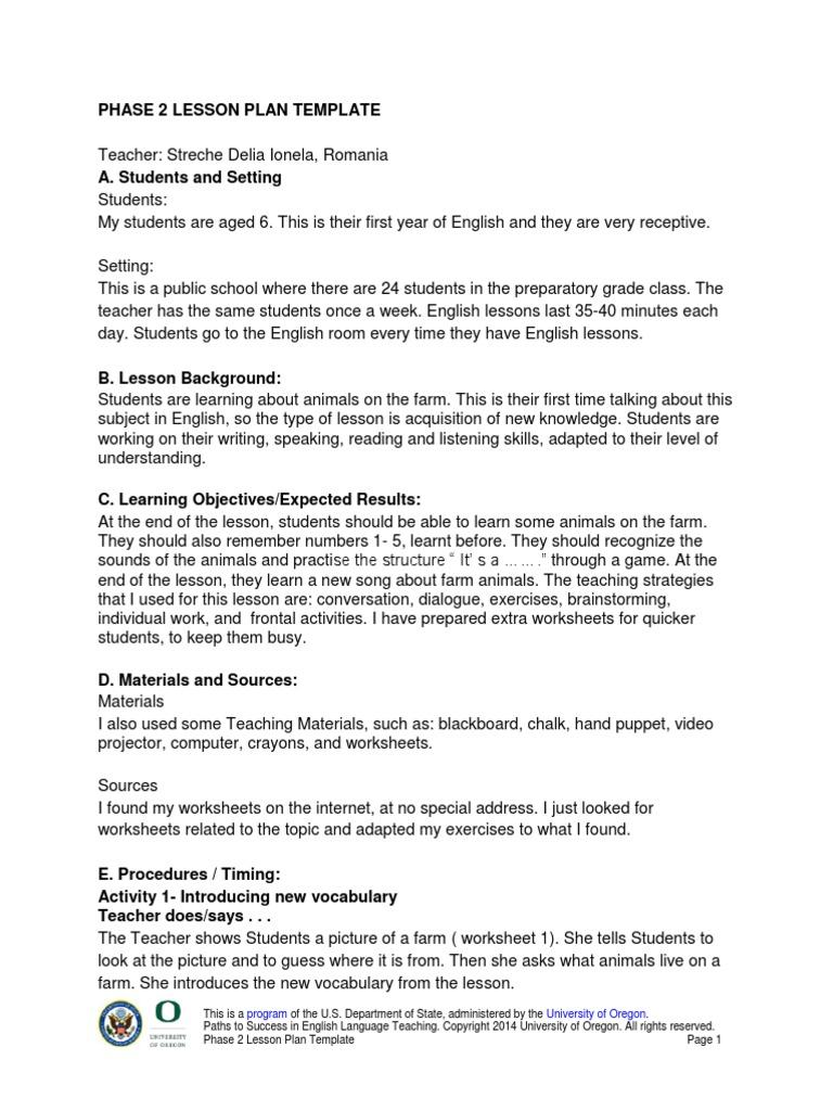 Lesson Plan Differentiated Instruction Lesson Plan - University lesson plan template