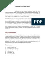 Fundamentals of Stock Market