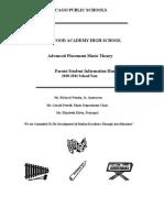 AP Music Theory Parent Student Handbook and Syllabus