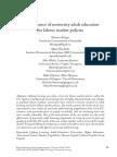 La Relevancia de La Educación Universitaria de Adultos Para Las Políticas de Mercado de Trabajo