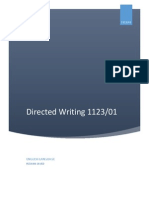 English Language 1123_Directed Writing Topics