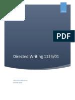 English Language 1123_Directed Writing Topics