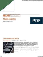 EArt-Understanding Coal Analysis