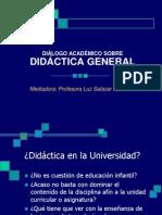 Didáctica, Valores y Formación de Competencias Profesora Luz Salazar