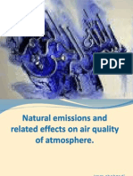 Natural emissions and related effects on air quality of atmosphere
