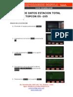 BAJADA DE DATOS ESTACION TOTAL TOPCON ES 105.docx
