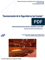CONCIENCIACIÓN DE LA SEGURIDAD EN LOS EVENTOS