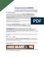 Solución Pantalla Negra en Televisores SAMSUNG