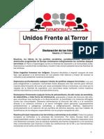 Resolución de los líderes del PES contra el terrorismo (PDF)