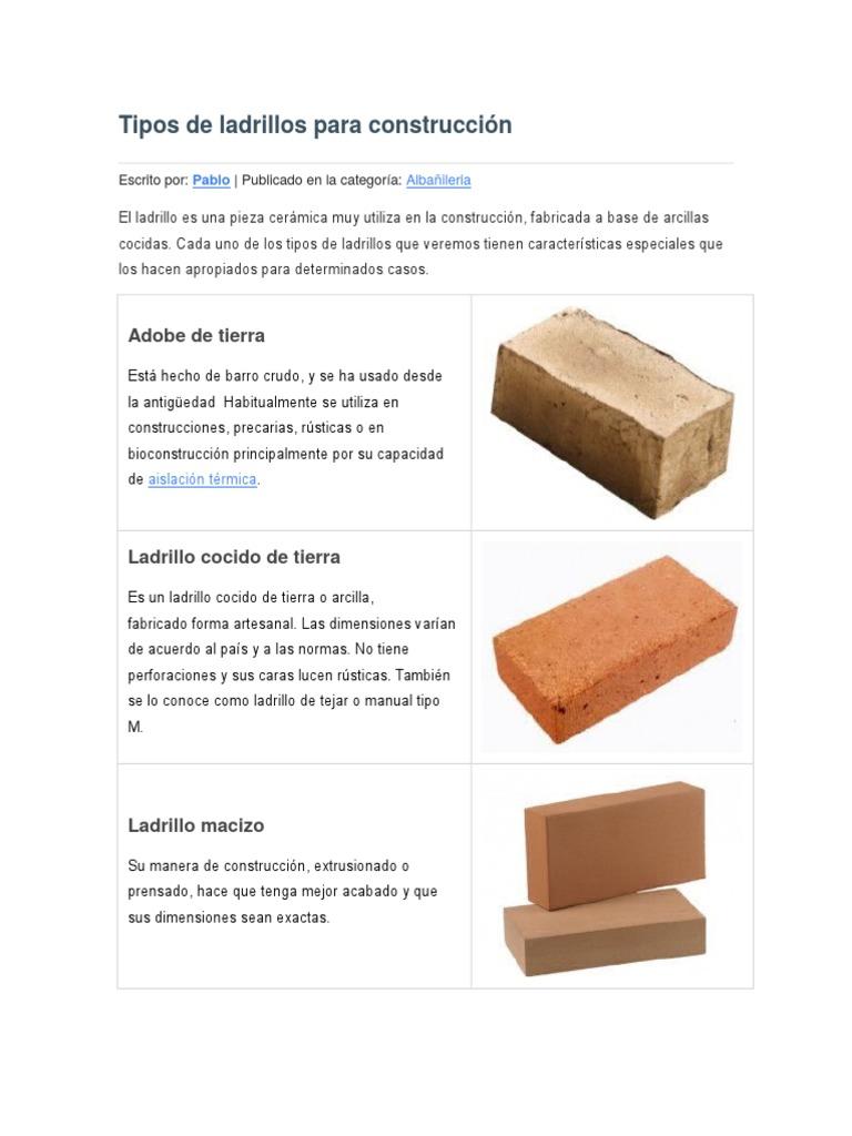 Precio de ladrillo macizo gallery of ladrillo cermico - Precio ladrillo macizo ...