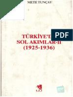 Turkiye-De Sol Akimlar II 1925-1936