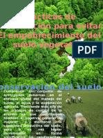 pràcticas de preservaciòn para evitar el empobrecimiento del suelo vegetativo