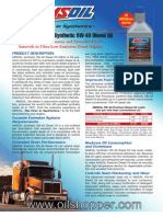 Synthetic 5W-40 Premium Diesel Oil for 2007+ engines