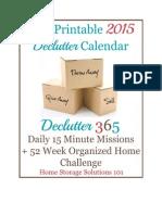 2015 Declutter Calendar eBook Final