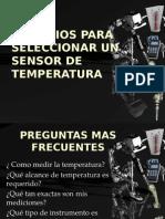 Criterios Para Seleccionar Un Sensor de Temperatura