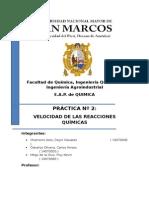 Informe 02 Quimica General AII