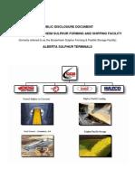 Alberta Sulphur Terminals Public Disclosure