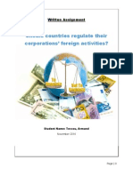 Should countries regulate their corporations' foreign activities?
