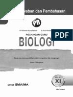 Kunci Jawaban PR Biologi Kelas 11 Intan Pariwara