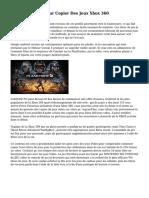 Comment Faire Pour Copier Des Jeux Xbox 360