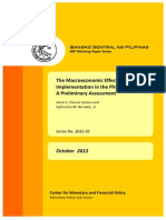 Macroeconomic Effects of Basel III Implementation in the Philippines