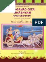 Swaminarayan - Gopalananda Swamis Gita-bhashya-English
