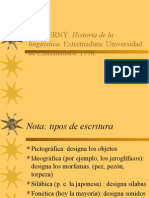 La Prehistoria de La Linguistica