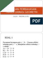 SOAL TRANSFORMASI GEOMETRI2