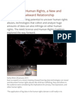 Big Data and Human Rights, A New and Sometimes Awkward Relationship