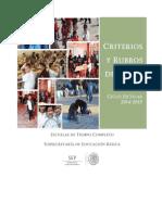 Criterios y Rubros de Gasto 2014. Etc_v