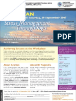 Stress Management Through Yoga 29Sep07 Singapore