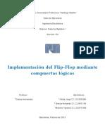 Implementación del Flip-Flop mediante compuertas lógicas