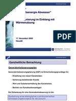 Steinbacher-Consult, Kanalsanierung im Einklang mit Wärmenutzung