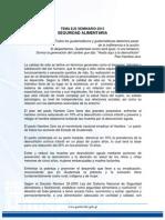 Tema Eje 2015 Seguridad Alimentaria y Nutricional