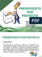 Presupuesto Por Proyecto